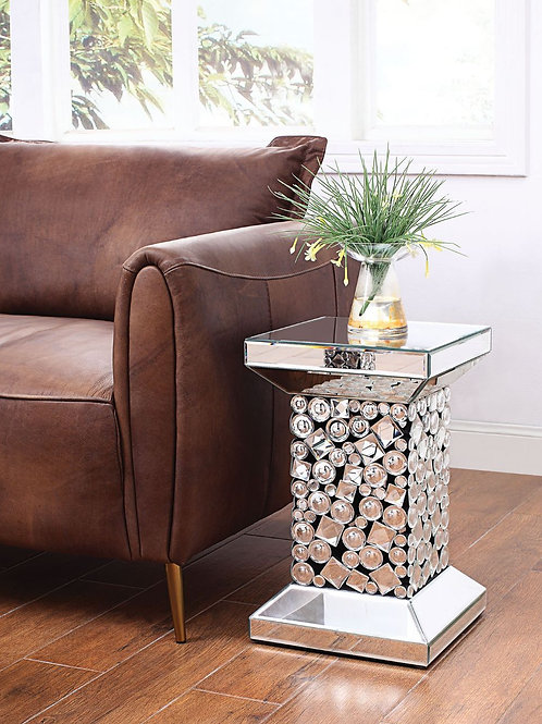 All Kachina Glam Mirrored End Table