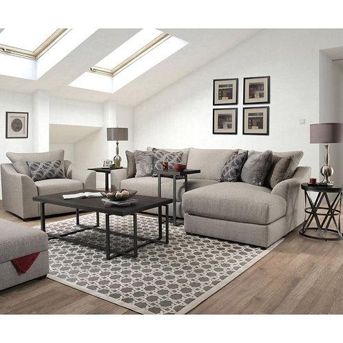 All Petillia Sandstone Fabric Sofa Chaise