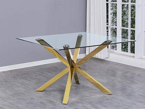 Best Q D58 Glass/Stainless Steel/Gold Table