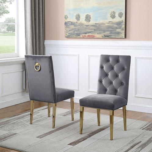 Best Q SC74 Velvet Gray/Gold Chair