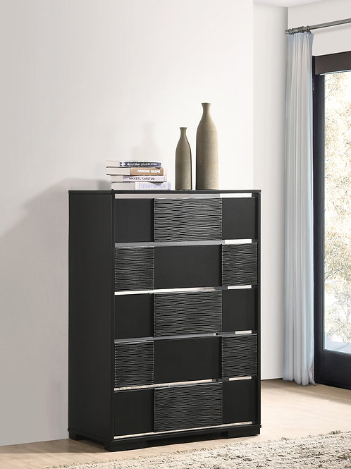 Blacktoft Cali 5-Drawer Chest Black