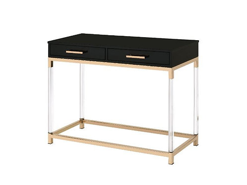 All 82348 ADIEL Black & Gold Finish Console Table
