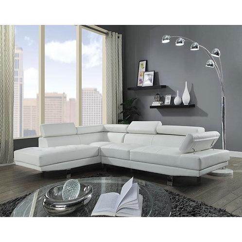 Conor All Cream PU Sectional Sofa