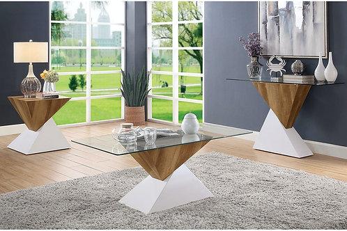 BIMA II Imprad Contemporary Glass- 2 Tone Base Coffee Table