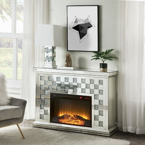 All Noralie 90872 Mirrored Glam Fireplace