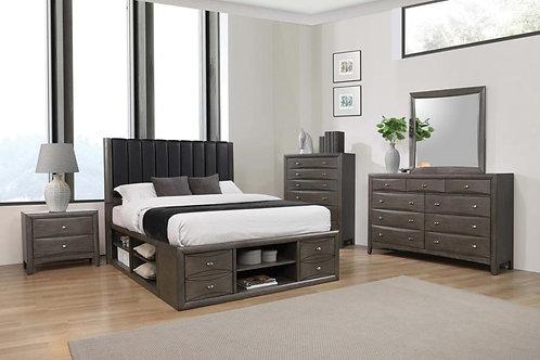 Phoenix Cali Storage Bed Coco Grey And Black