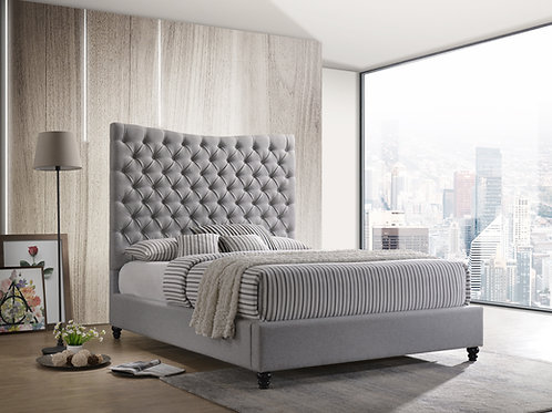 7556 Mg Gray Platform Bed