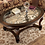 Thumbnail: Angel Norcastle Traditional Dark Brown Glass Oval Coffee Table