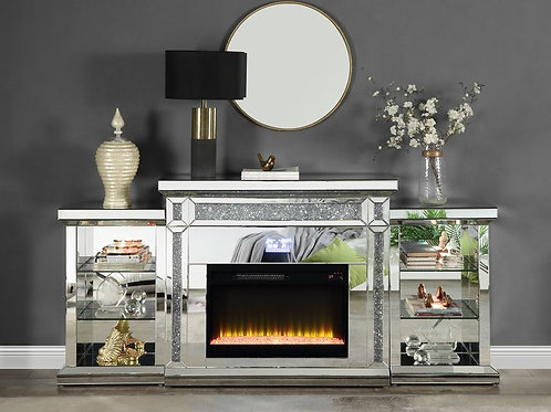 All Noralie Fireplace LED Glam Fireplace-AC00518
