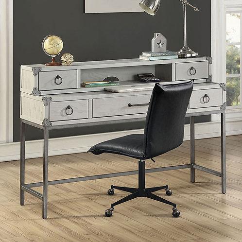 Orchest All Gray Desk & Hutch