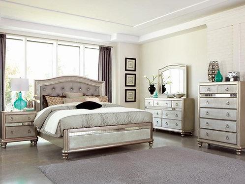 Blingame Cali Panel Bed Metallic Platinum