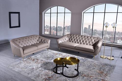 1301 AE Dark Tan Full Leather Sofa