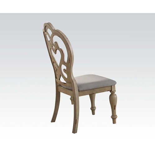 Abelin All Side Chair Fabric & Antique White
