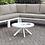 Thumbnail: SASHA Imprad Contemporary White Patio Round Coffee Table