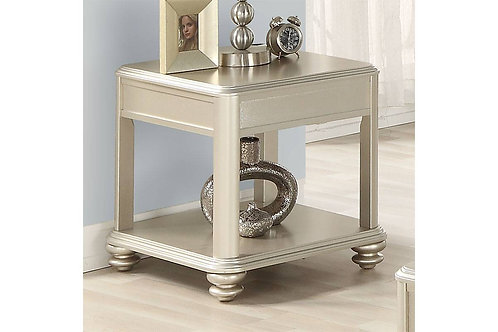 Champagne colored End Table Port 6373