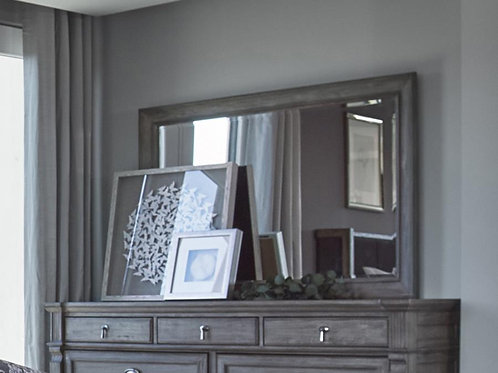 Cali Alderwood Transitional French Grey Mirror