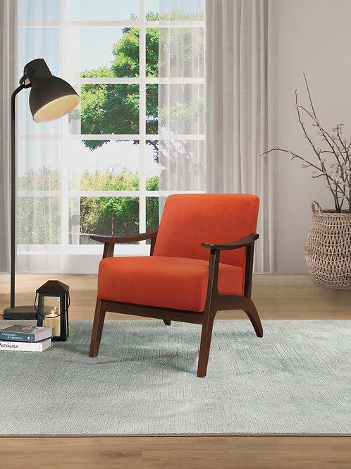 Carlson Henry Mid Century Orange Velvet Chair