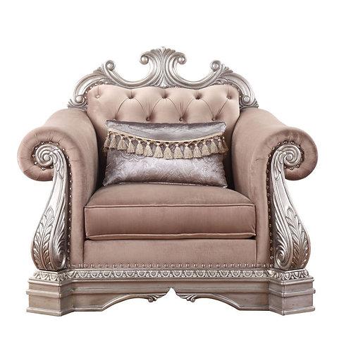 All Northville Traditional Velvet & Antique Silver Chair