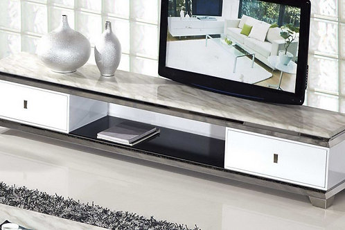 536 AE Faux Marble Top TV Stand