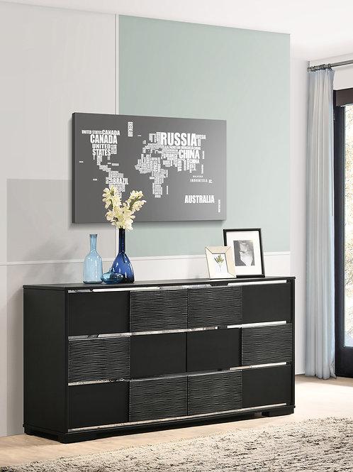 Blacktoft Cali 6-Drawer Dresser Black