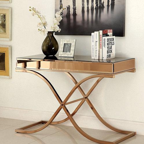 SUNDANCE Imprad Mirrored Bass Metal Sofa Table