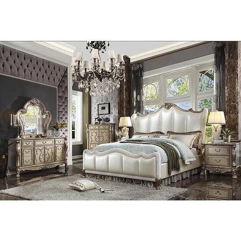 Dresden All Vintage Pearl PU Bed