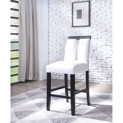 Bernice All Counter Height Chair White PU & Black