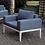Thumbnail: SHARON Imprad Contemporary White, Blue Patio Arm Chair