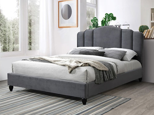 All GIADA Charcoal Fabric Platform Bed - 28970