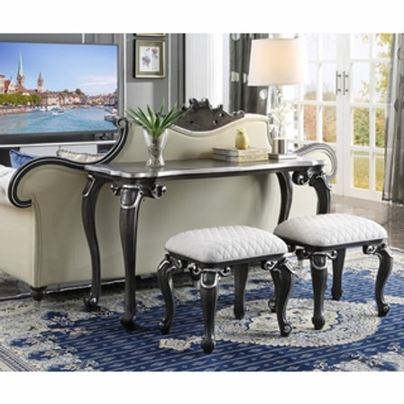 All House of Delphine 88833 Charcoal Finish Sofa Table