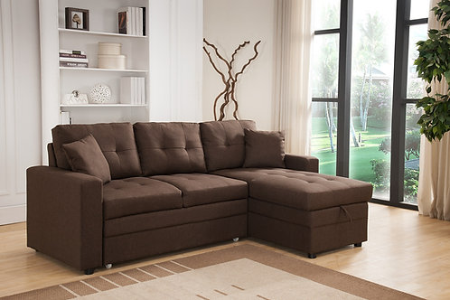 8008 Milt Reversible Pull Out Brown Sectional