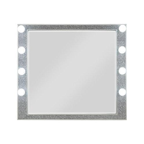 All Sliverfluff Glam Champagne Mirror w/Hollywood Lights