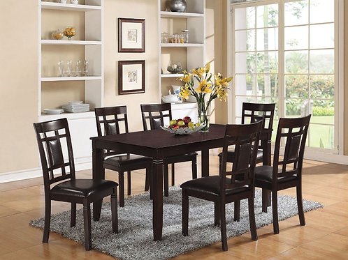 All Sonata 7Pc Pack Dining Set Espresso & Espresso PU