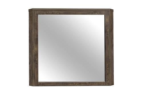Henry Jocelyn Natural Rustic Wood Grain Brown Mirror