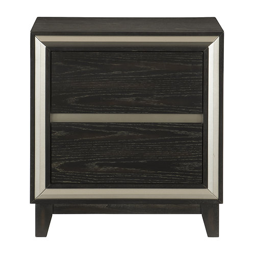 Henry Grant 2 Tone Night Stand  w/Silver Banding