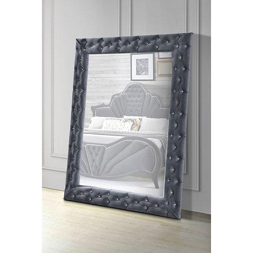 All Dante Accent - 24237 - Glam - Gray Velvet Floor Mirror