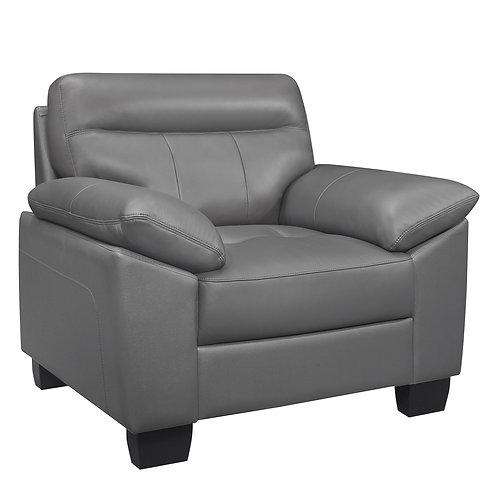 Denizen Henry Dark Gray Leather Chair Modern