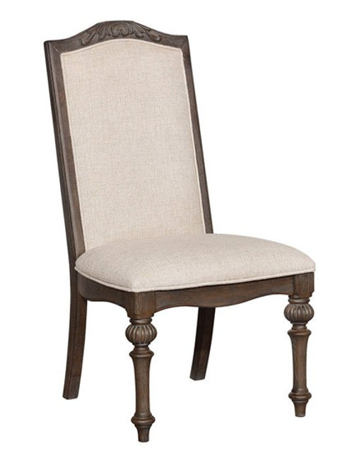 ARCADIA Imprad Rustic Natural Tone-Ivory Fabric Side Chair