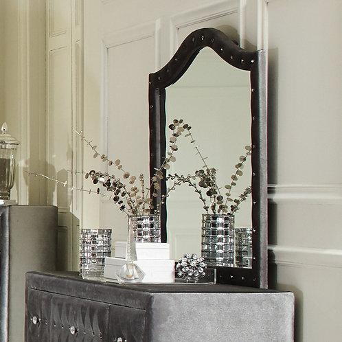 Deanna Cali Button Tufted Mirror Grey
