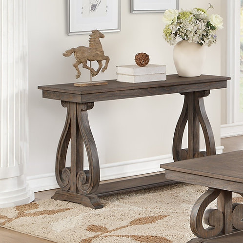 Toulon Henry Distressed Dark Oak Sofa Table