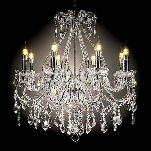 Jen Imprad Clear Ceramic / Crystal Ceiling Lamp