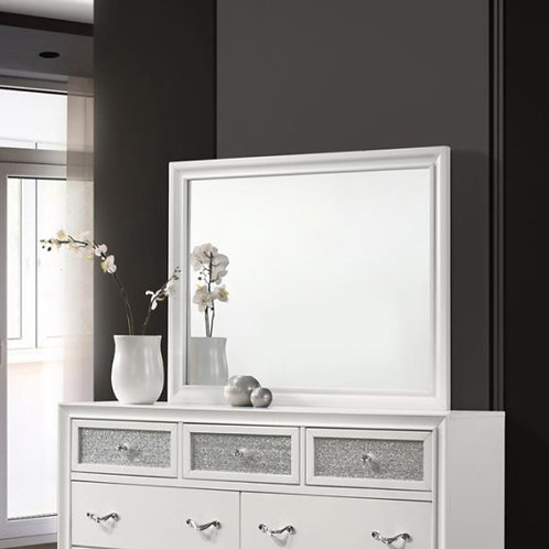 Cali Barzini White Silver Mirror