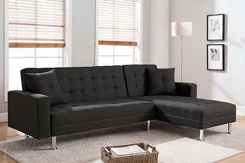 8057 Mg Tufted Linen Fabric Sectional Sofa Bed