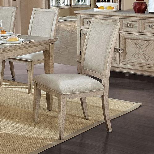 Cerise Imprad Natural Tone Fabric Chair