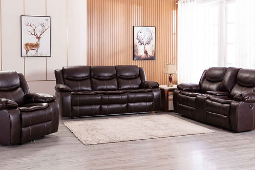 8005 Mg Power Reclining Brown Sofa