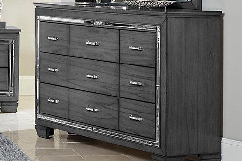 Allura Henry Gray Mirrored Dresser
