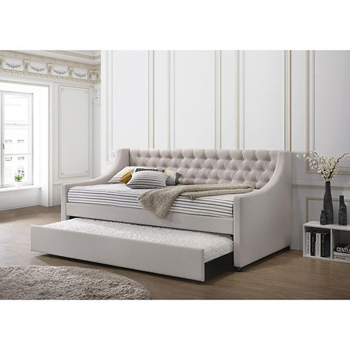 Lianna All Fog Fabric Daybed with Trundle
