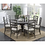 Thumbnail: Emeral Paladin Rustic Charcoal Round Dining Table