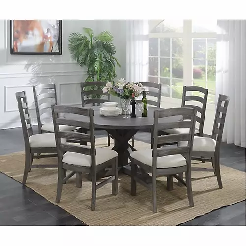 Emeral Paladin Rustic Charcoal Round Dining Table