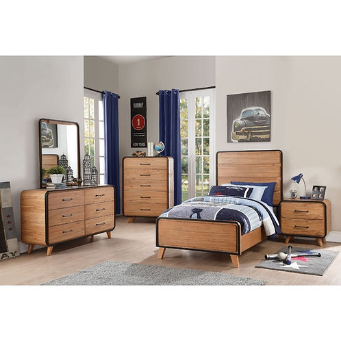 Carla All Bed Oak & Black